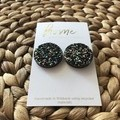 Recycled Black Glitter Stud Earring | Mother's Day | Unique