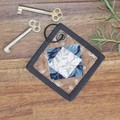 Patchwork Quilted Key Ring