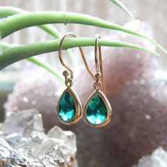 May Birthstone Earrings,May Birthday Gift Gold Filled