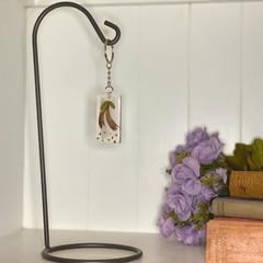 Kangaroo paw rectangle keychain - resin