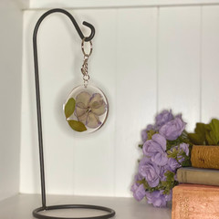 Large flower circle keychains - resin