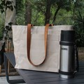 Waxed Canvas Everyday Shopping Market Tote Bag