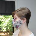 Washable 3-Layer Cotton Face Mask with Nose Wire - William Morris Acanthus