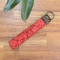 Patchwork Quilted Key Ring Wristlet William Morris