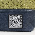 Patchwork Zippered Pouch Pencil Case Tote Purse Make-Up Cosmetic Toiletries