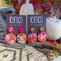 Confetti Collection - resin large dangle earrings