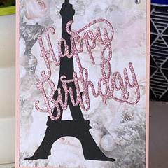 Birthday Handmade Card  - Paris