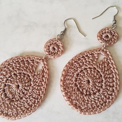 Double Waterdrop Crochet Earrings