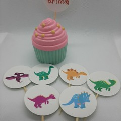 Cake toppers,  Dinosaurs, Birthday Party