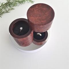 Turned Wooden  Jewellery Box, Proposal Ring Box, Trinket box, Wedding ring box