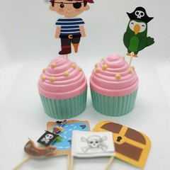 Cake toppers, Party,Pirates, Cupcakes, Fruit Picks