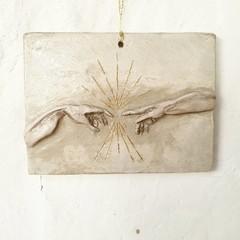 Wall Art - Michaelangelo's Creation Of Adam