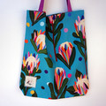 Traditional Tote featuring Brook Gossen fabric
