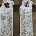 Lace Bookmark with Flower and Ladybug
