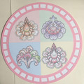4 big flowers with light pink and white circle