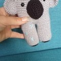 Handmade Crochet Koala Soft Toy & Koala Rattle, Koala Amigurumi
