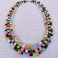 3 Strand Multi Coloured Necklace