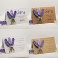 Handmade Greeting Card with Crochet Lavender