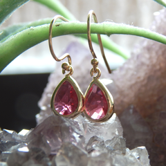 July Birthstone Earrings,July Birthday Gift, Gold Filled