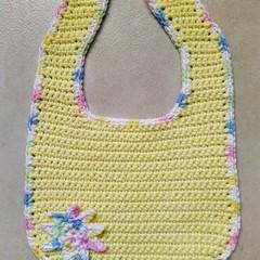 Crochet Sunshine Bib - PDF Pattern