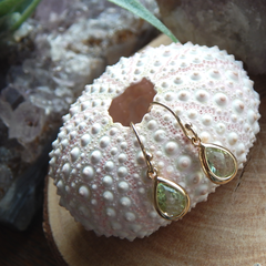 August Birthstone Earrings,August Birthday Gift Gold Filled