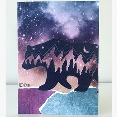 Beautiful bear card
