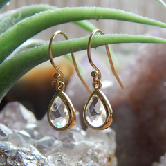 April Birthstone Earrings,April Birthday Gift Gold Filled