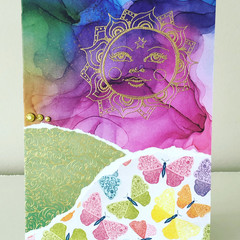 Bright sun card