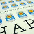 Male Happy Birthday card - Beer