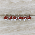 Stitch markers  set of 6 Toadstool design
