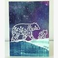 Mum and baby bear card