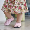 Baby pink soft soled shoe
