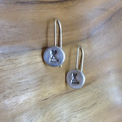 Recycled Silver Cat Earrings