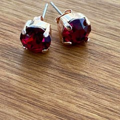 Stud Earrings adorned with a Swarovski Crystal Stone