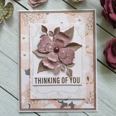 Thinking Of You Handmade Card