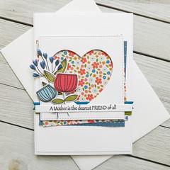 A Mother Is The Dearest Friend Handmade Card