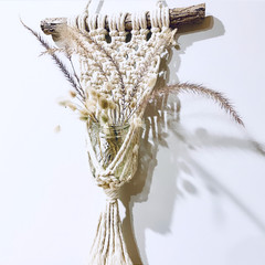 Macrame vase holder