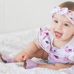 Lilac soft soled shoe