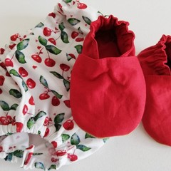 Red  soft soled shoe