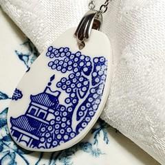 Blue Willow pendant