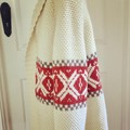 Retro Hipster 1970s Style Hand Knit Jacket