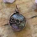 Sacred Flower 5 Stone Pendant