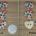Heart Shaped Wooden Buttons - You Choose Design!