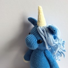 Unicorn, crochet, Amigurumi, toy, gift, baby, nursery, fantasy