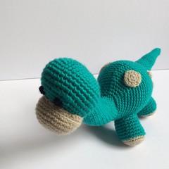 Dinosaur, Dino, crochet, Amigurumi, toy, baby, children, gift, nursery,