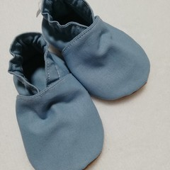 Dusty Blue soft soled shoe