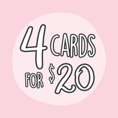 4 Greeting Card Value Pack