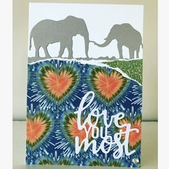 """Elephant """"love you most"""" card"""
