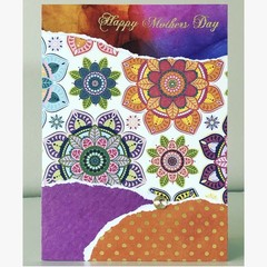 Mother's Day mandala card