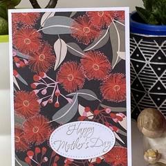 Mother's Day Handmade Card  - australia native flower